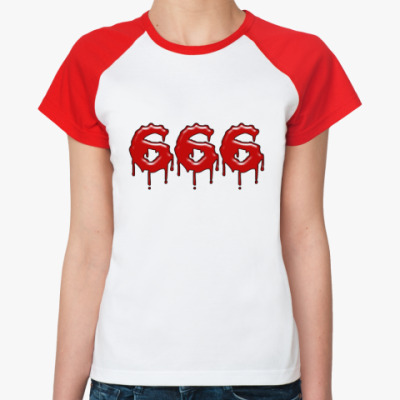 Женская футболка реглан 666
