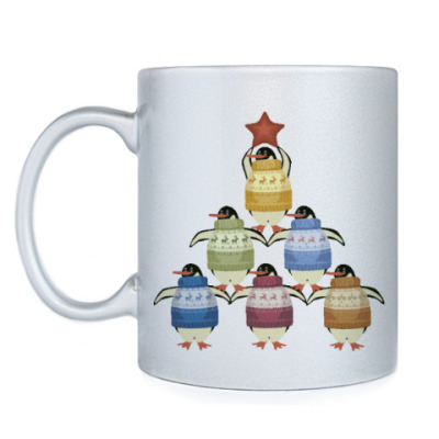 Кружка Новогодние пингвины