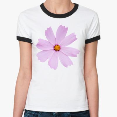 Женская футболка Ringer-T Цветок космеи