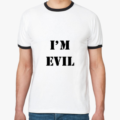 Футболка Ringer-T I'm evil