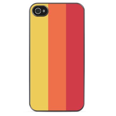Чехол для iPhone Yellow, Orange, Red