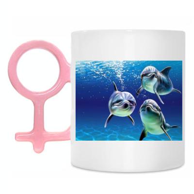Кружка Delphins In Sea