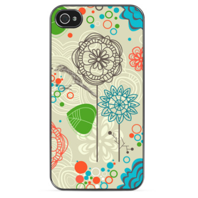 Чехол для iPhone Цветочная Абстракция