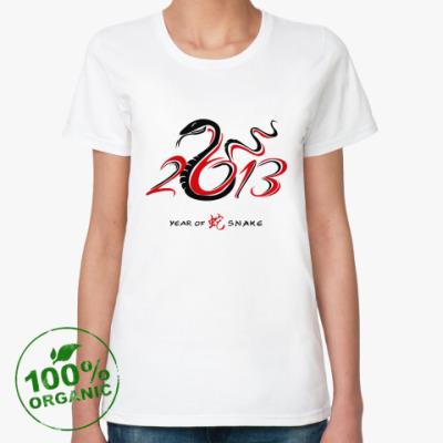 Женская футболка из органик-хлопка Год 2013 Змеи