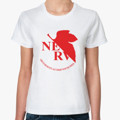 Классическая футболка Евангелион / Evangelion - NERV Logo