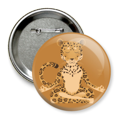 Значок 75мм Animal Zen: J is for Jaguar