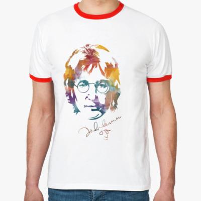 Футболка Ringer-T The Beatles - John Lennon