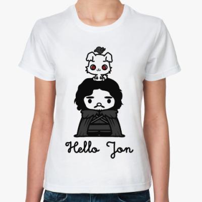 Классическая футболка Hello Jon