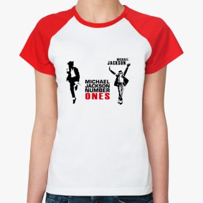 Женская футболка реглан майкл джексон, michael jackson