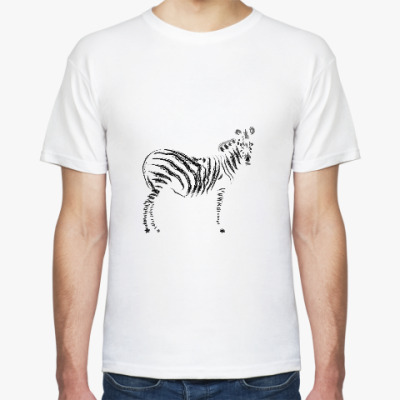 Футболка зебра