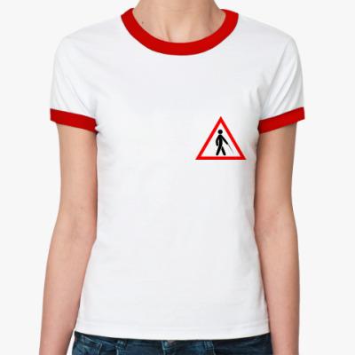 Женская футболка Ringer-T Слепая