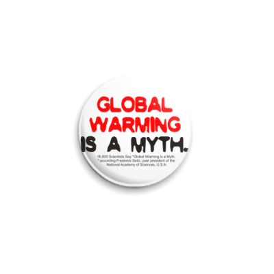 Значок 25мм  25 мм global warming