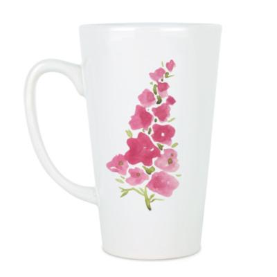 Чашка Латте цветочный аромат лета