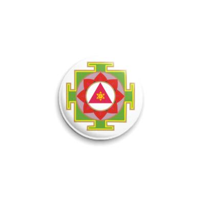 Значок 25мм Янтра Ганеша (значок )