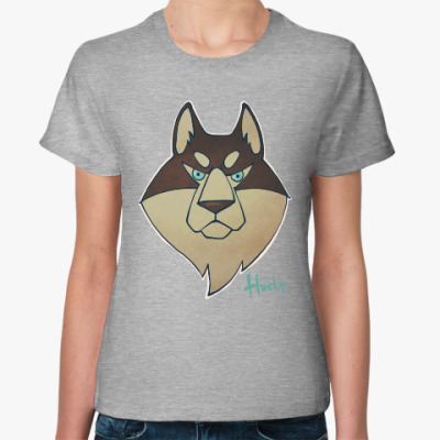 Женская футболка Хаски