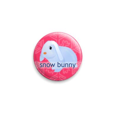 Значок 25мм Snow Bunny (Pink)