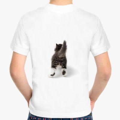 Детская футболка Котенок. Вид сзади