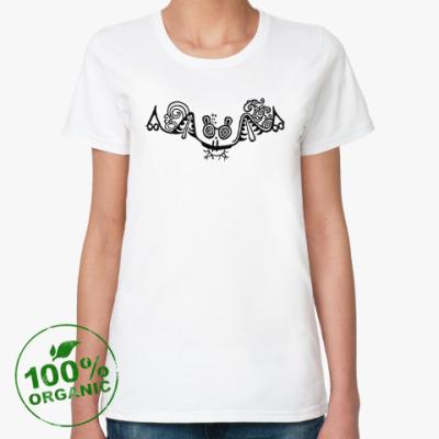 Женская футболка из органик-хлопка Личина зверя