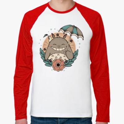 Футболка реглан с длинным рукавом Smile Totoro