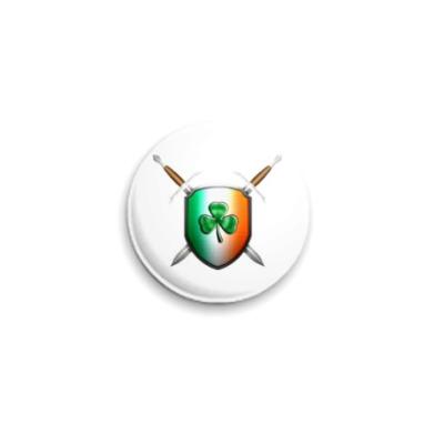 Значок 25мм  'Ирландский Щит'