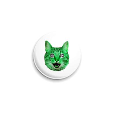 Значок 25мм  «Green cat» (25 мм)