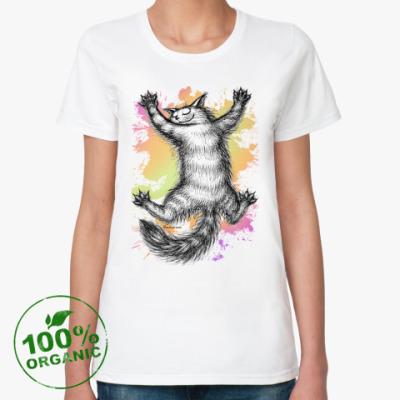Женская футболка из органик-хлопка Ласковый зверь