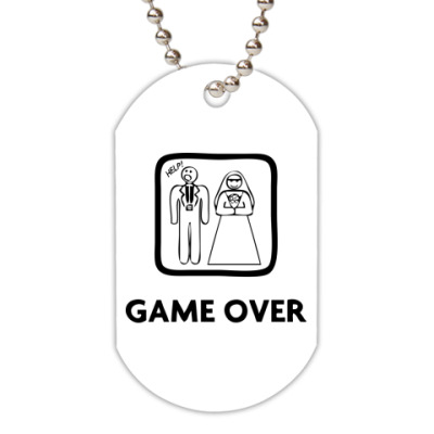 Жетон dog-tag Game Over. HELP!