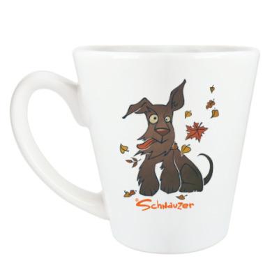 Чашка Латте Осенний шнауцер