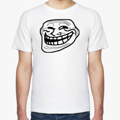 Футболка Белая.Trollface