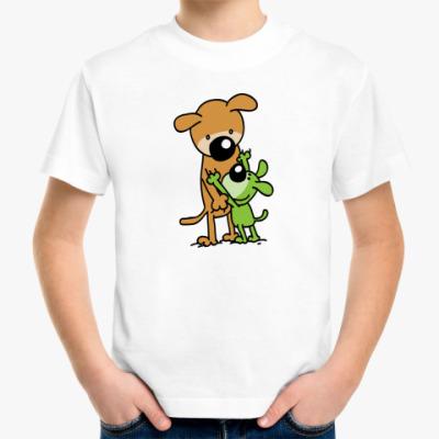 Детская футболка Две собаки