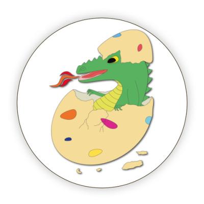 Костер (подставка под кружку) 'Дракоша в яйце'
