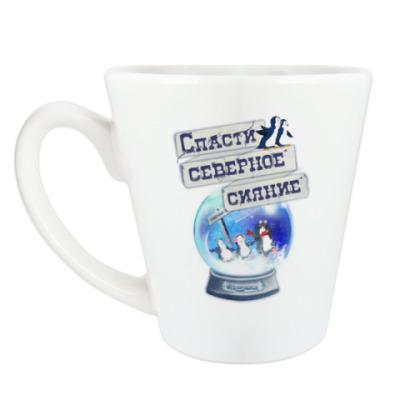 Чашка Латте Елка на воде