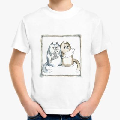 Детская футболка Благополучные коты