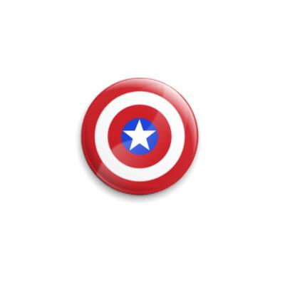 Значок 25мм  Щит Капитана Америка