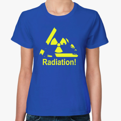 Женская футболка Radiation - Радиация