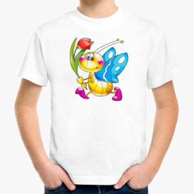 Детская футболка БАБОЧКА С ТЮЛЬПАНОМ