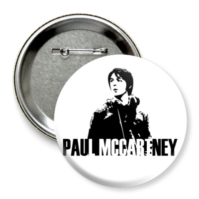Значок 75мм  Paul McCartney