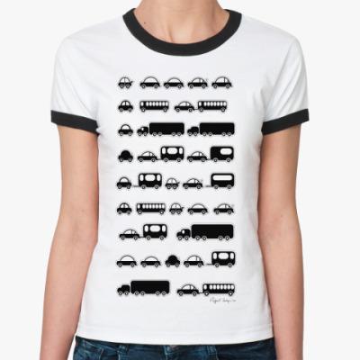 Женская футболка Ringer-T  футболка Пробка
