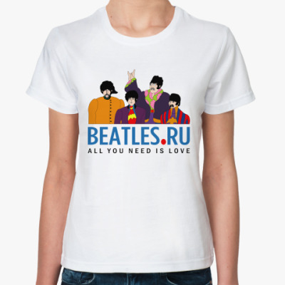 Классическая футболка  футболка Beatles.ru