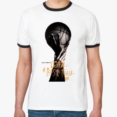 Футболка Ringer-T    Баскетболл