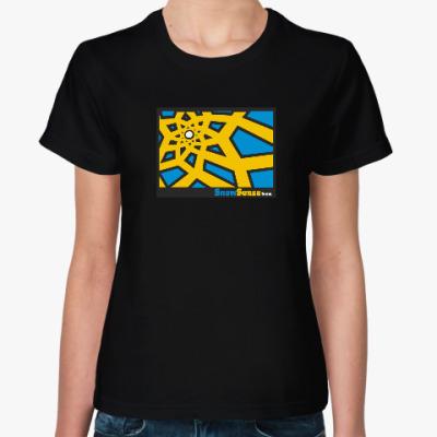 Женская футболка Женская футболка с желтым солнышком (разные цвета)