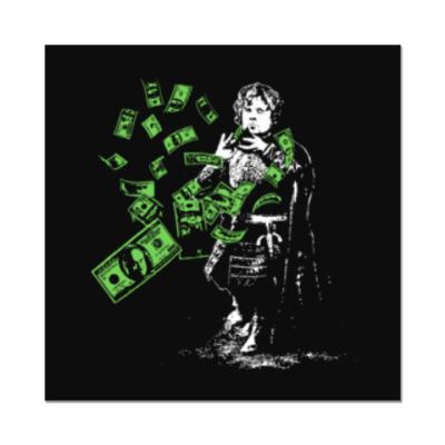 Наклейка (стикер) Тирион и деньги