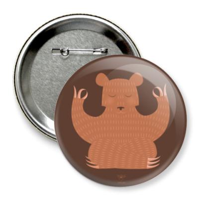 Значок 75мм Animal Zen: B is for Bear