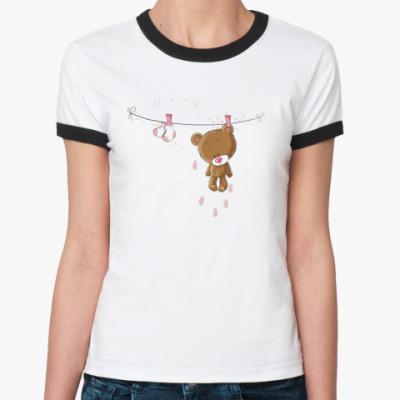 Женская футболка Ringer-T Мишка