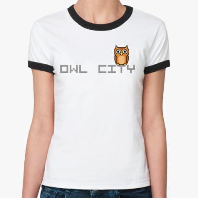 Женская футболка Ringer-T Owl City