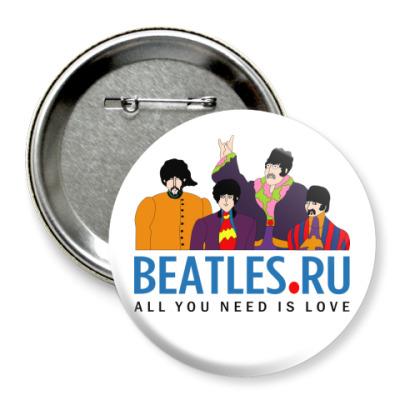 Значок 75мм  Beatles.ru (больш)