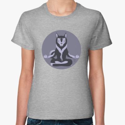Женская футболка Animal Zen: H is for Husky
