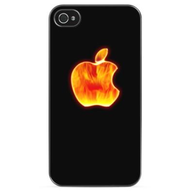 Чехол для iPhone Огненный Apple