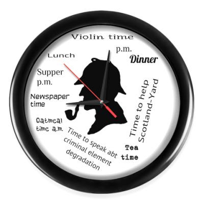 Настенные часы Время Шерлока
