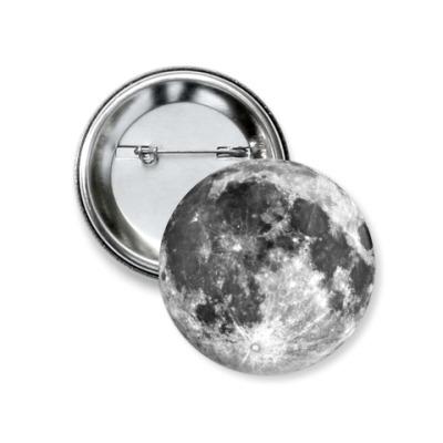"Значок 37мм  ""Moon"" 37 мм"